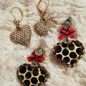 Betsey Johnson drop hearts
